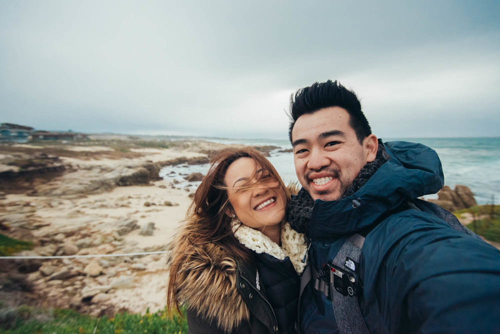 Asilomar State Beach (clearly too happy and too windy)