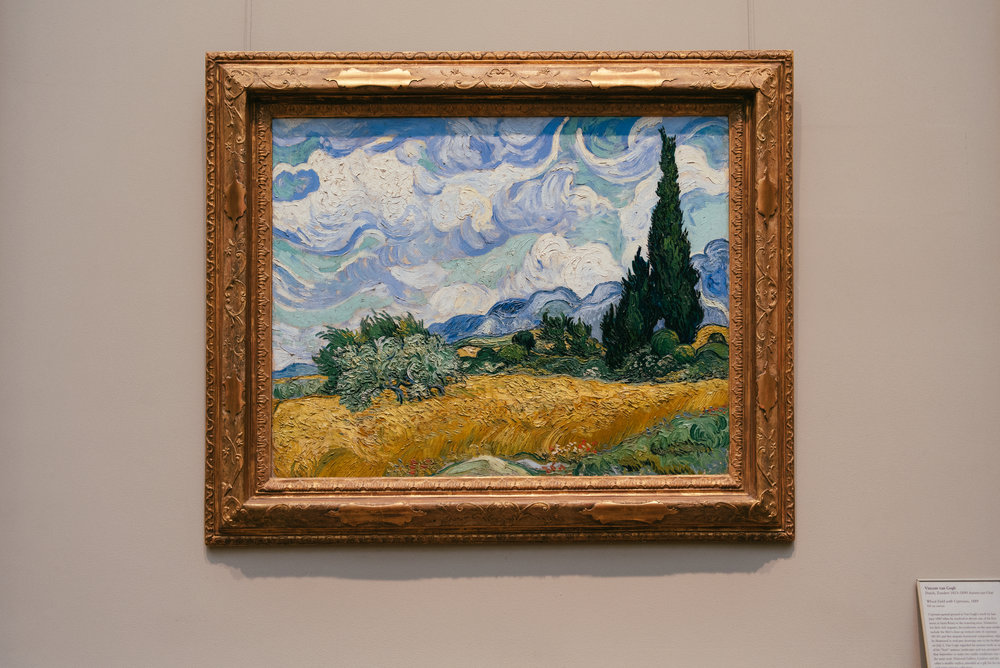 Van Gogh's Wheat Field with Cypresses.