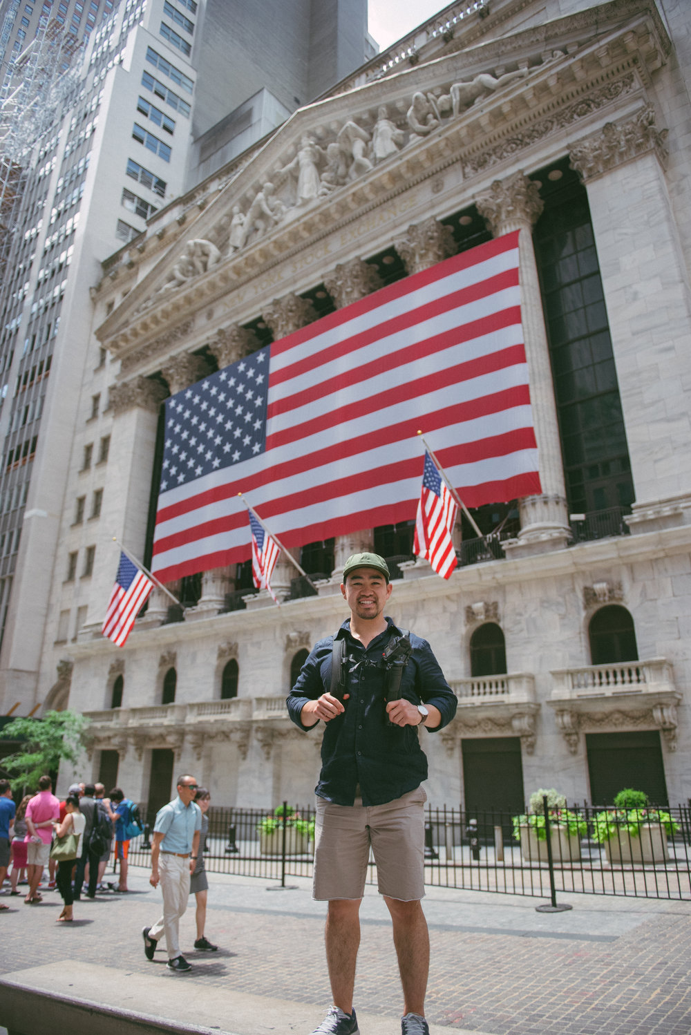 Kyle in front of the New York Stock Exchange!