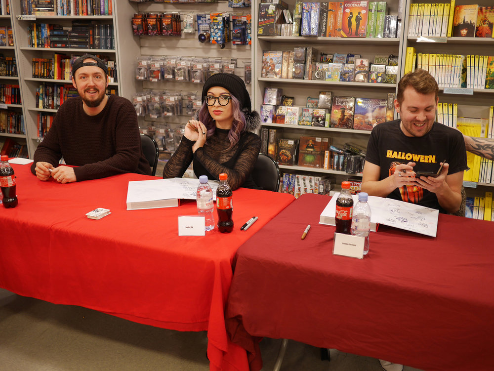Alongside Jason Miller and Brendan Purchase at Forbidden Planet