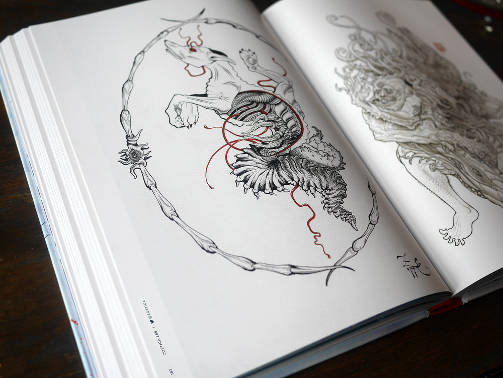 My anatomical Kennel Thing in The Thing Artbook, p. 182