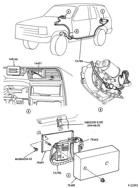 BW1354 Transfer Case Shift Control Module diagram