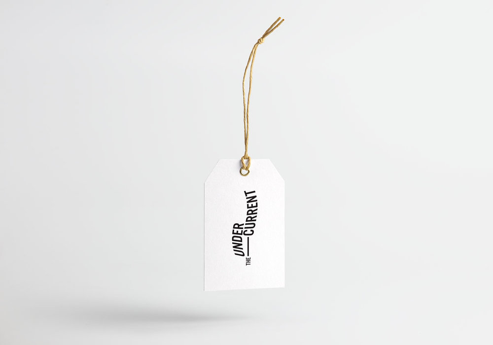 Swing tag The Undercurrent logo design