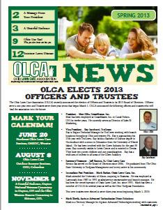 OLCA News - Spring 2013