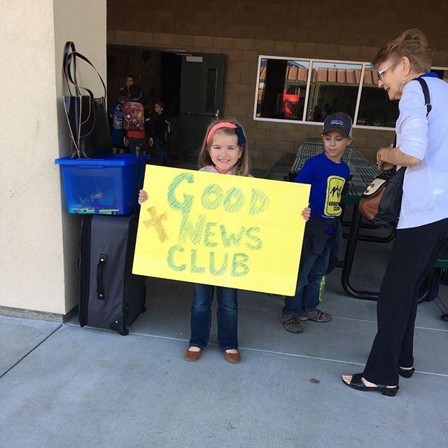 """Today was our first day of Good News Club at my son's elementary school and it was beyond wonderful!! I was expecting around 20 kids but 32 joined our club and 4 little girls accepted Jesus!!! And one mom asked if she can coordinate with me! Praising God! Seriously! I've had tears of joy and thankfulness nonstop since 4pm!"" - Crissy Cochran  If you're a parent or elementary school teacher and would like to find out how you can bring a Good News Club to your school, visit Guest Services this weekend!  #canyonhills #raisinglittleinfluencers #fromtheneighborhoodtothenations #campcourage #fortfaith"