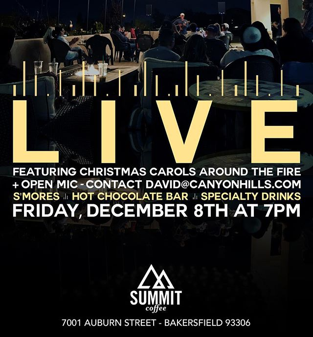 Join us for coffee ☕️ and carols 🎶 around the campfire 🔥 and our last LIVE music night of the year.  #summitcoffee
