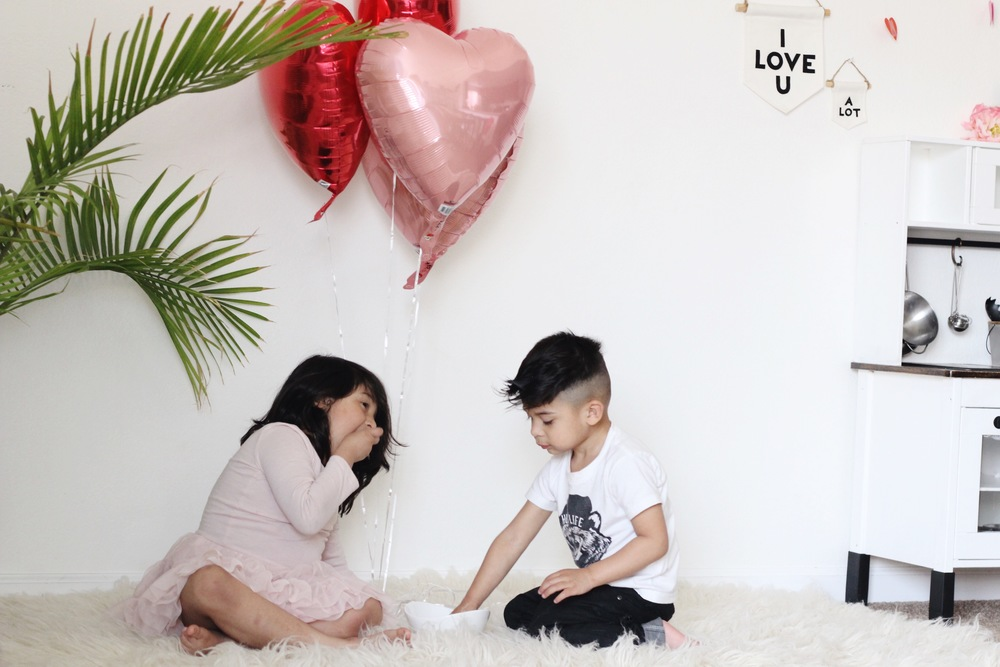 celebrating love with toddlers