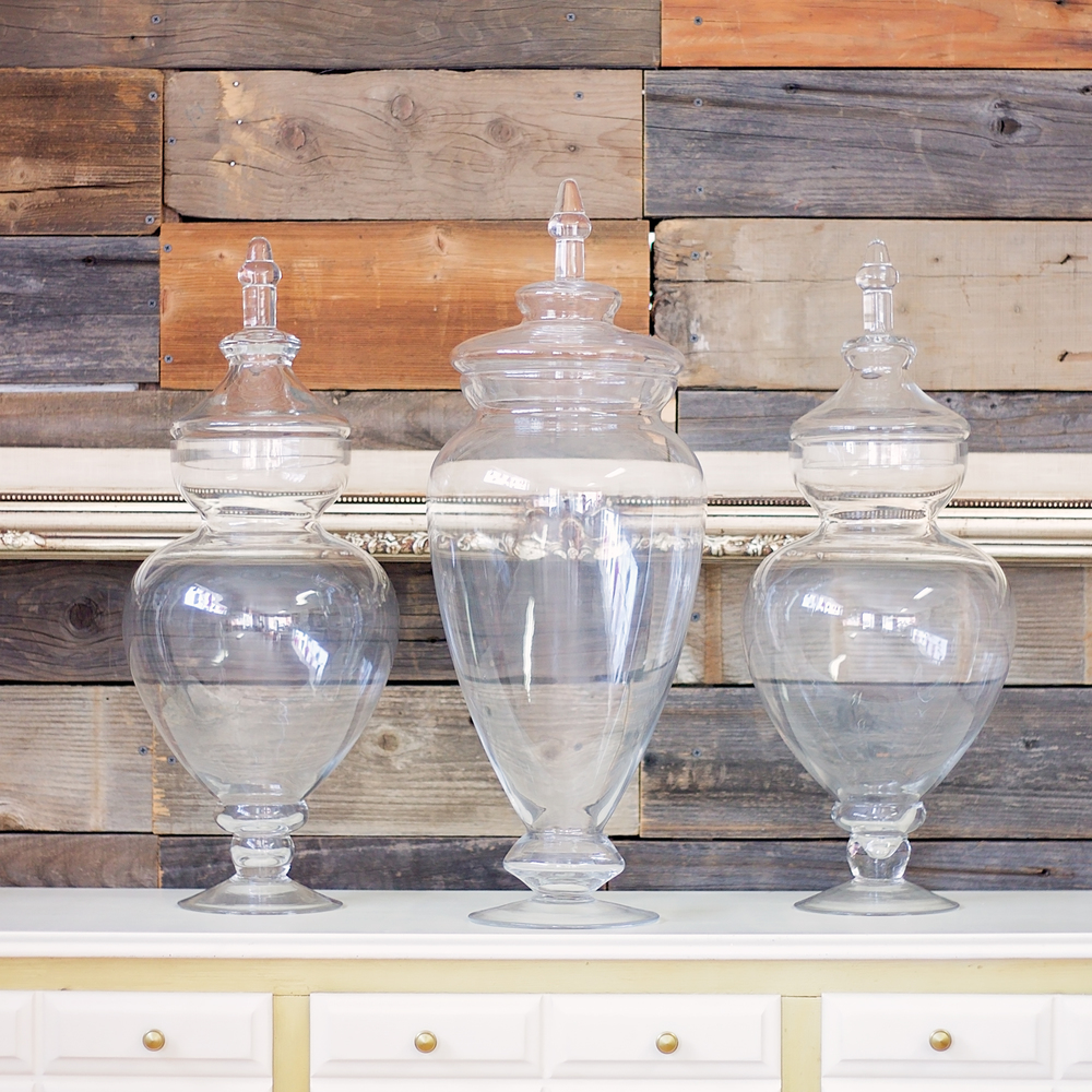 Lg Apothecary Jars $20