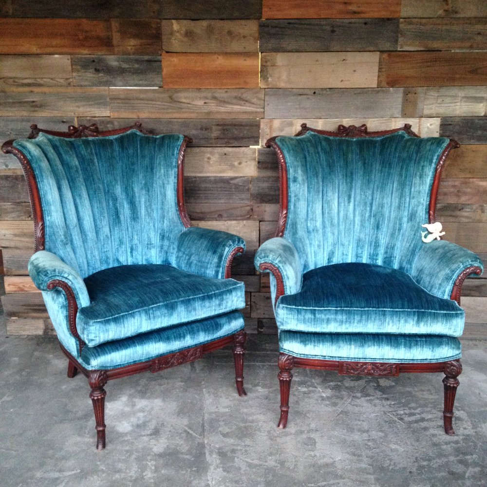 Sonny Blue Chairs $60ea