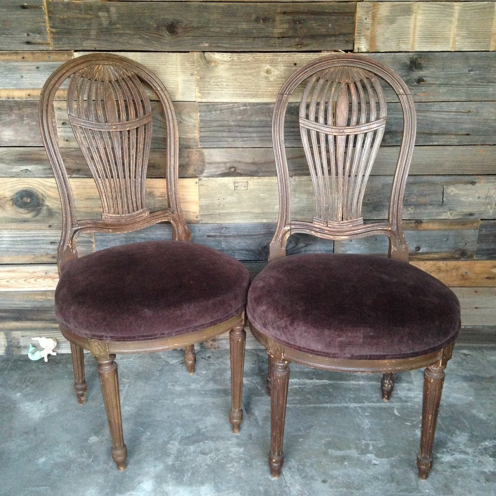 Birdcage Chairs $30pair