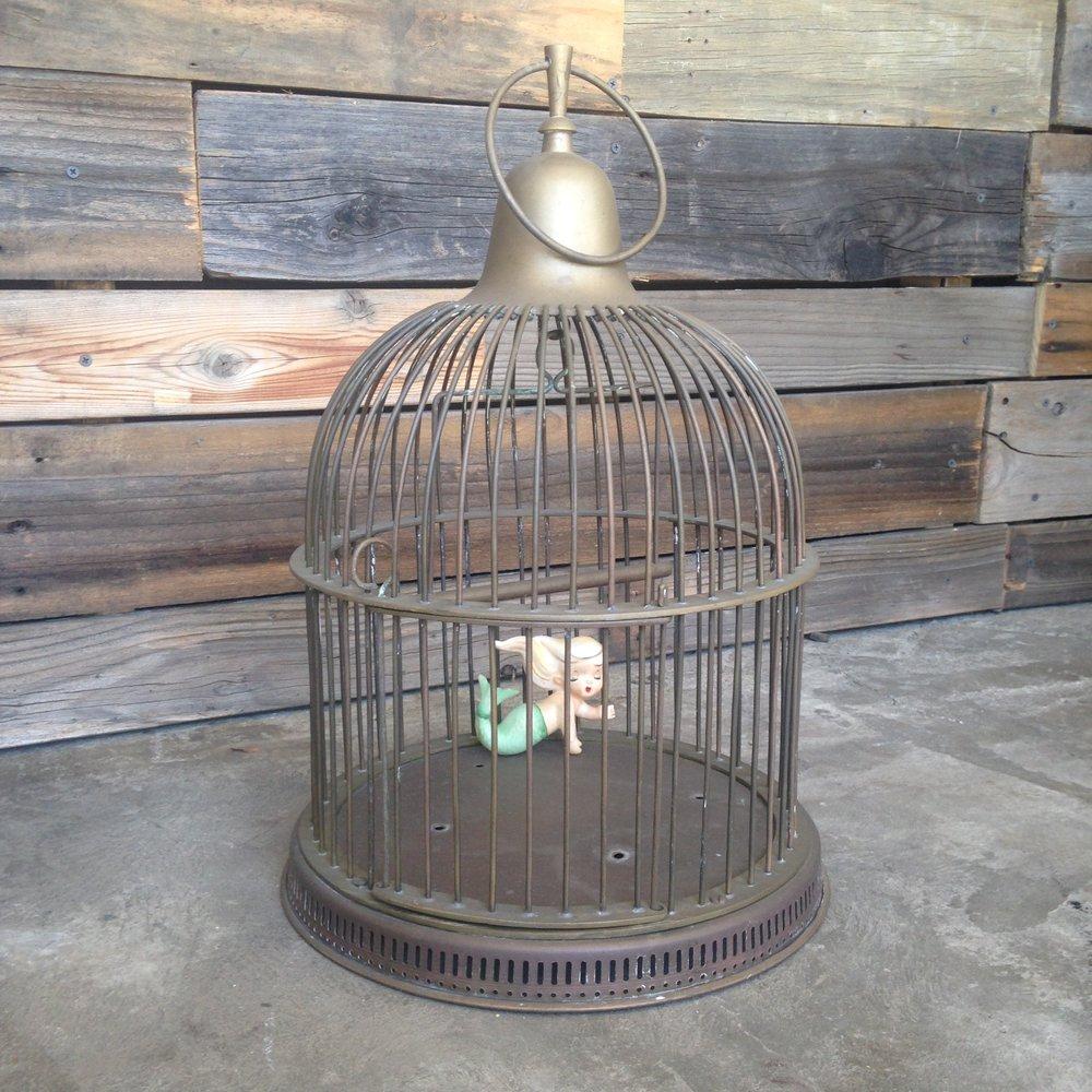 Brass Birdcage $12
