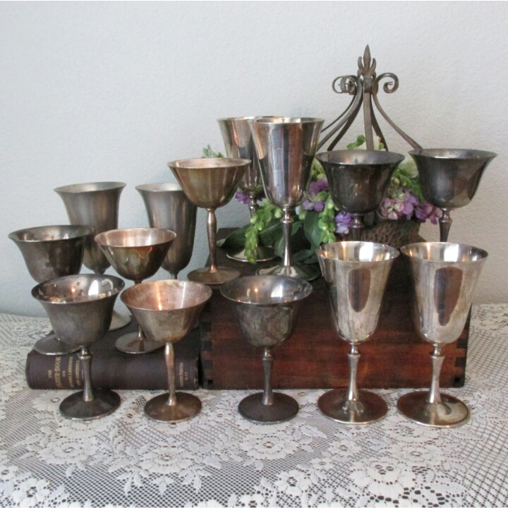 Silver Plate Goblets $2ea
