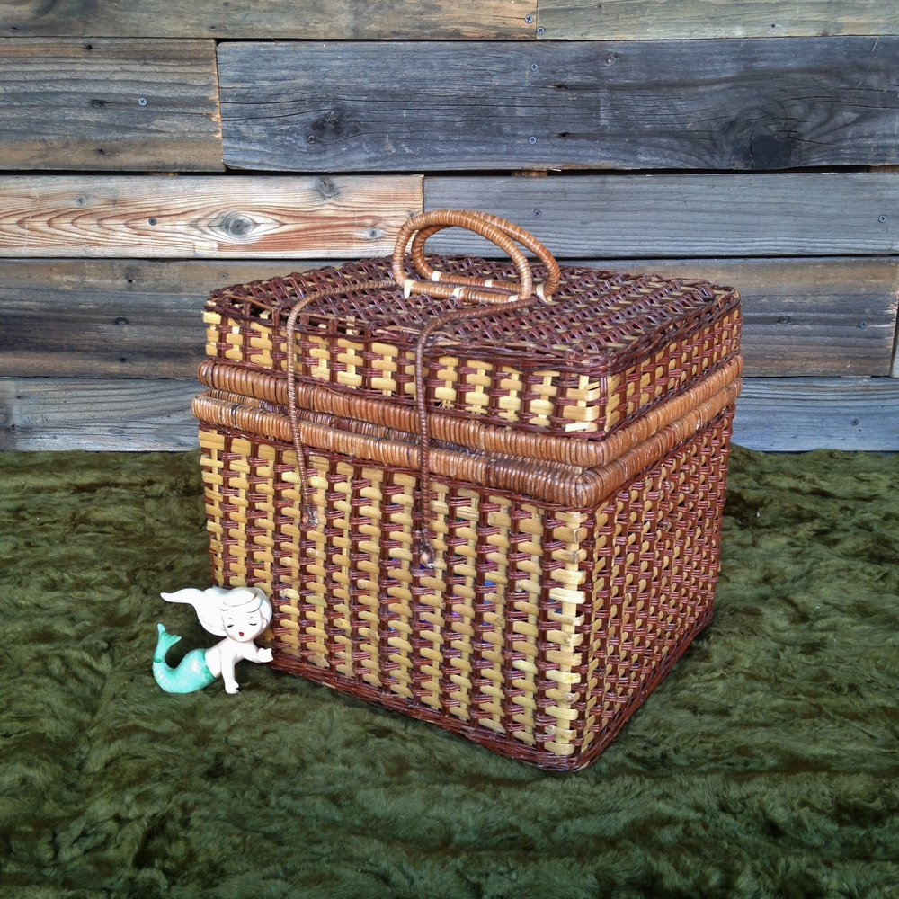 Wicker Picnic Basket $5
