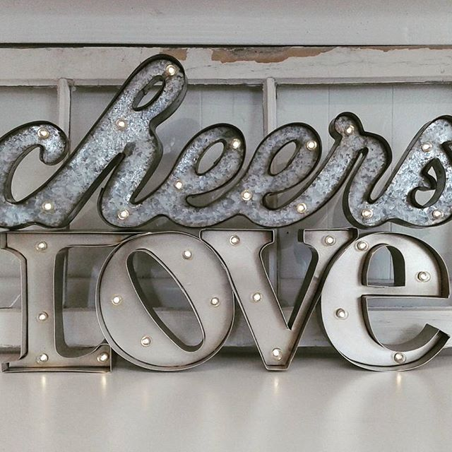 Cheers & LOVE Marquee $15ea