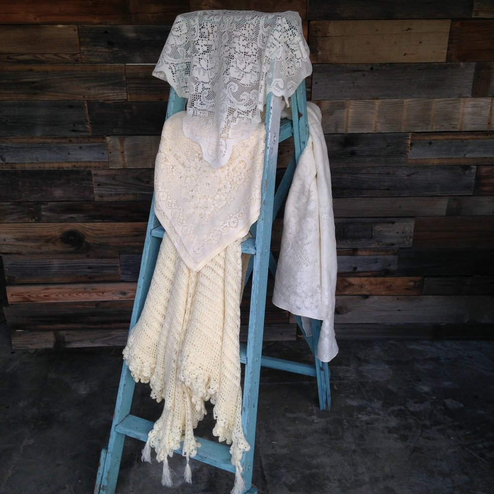 Lace Table Cloths $10