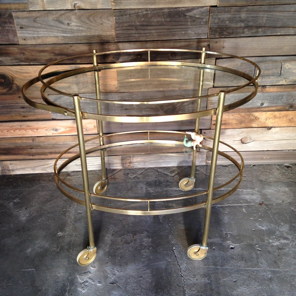 Brass Bar Cart $40