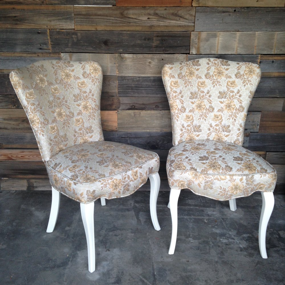 Floral Chairs $30pair