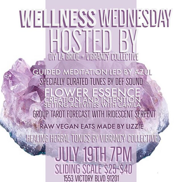 Beauty comes from within. Take some time for yourself and join us at the shoppe July 19  at 7pm for Wellness Wednesday, hosted by some awesome boss babes. Link in bio for more info and to RSVP.  #Repost @vibrancycollective ・・・ We're very excited to be participating in this #event hosted by @camilacreates and @diy.la.bride ✨ Wellness #Wednesday is the first of a monthly workshop series to heal your #soul, #nourish your #body, clear your #mind, build #community and make #wellness accessible for all. Link in bio for #tickets! #workshop #LA #losangeles #burbank #glendale #sfv #healthylifestyle #girlboss #metime