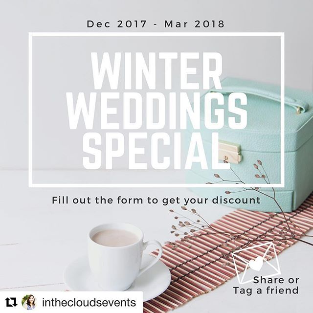 Lovers! @inthecloudsevents is running a promo! If you are getting married in the next few months and decided it's time for a professional to step in, complete the form in her bio to set up a free consultation.  ADDITIONALLY! She is offering $50 of her rental items for FREE to the first couple that mentions me, DIY LA Bride. Spread the word!! 💍 #lawedding #labride #socalwedding #bridetobe #diywedding #diybride #Repost @inthecloudsevents... Hey lovely vendors, creatives, and engaged couples! I'm running a promotion for weddings, vow renewals, or elopements happening this winter season (between Dec 2017 and Mar 2018). If you or you know anyone in need of wedding planning, design or management/coordination, tag them below or share post with them! Complete the form in bio to receive promotion info. #engaged #weddingdeals #weddingplanner #weddingcoordinator #pasadenawedding #losangeleswedding #wcvendor #scbvendor #offbeatbride #winterwedding #winterdeals