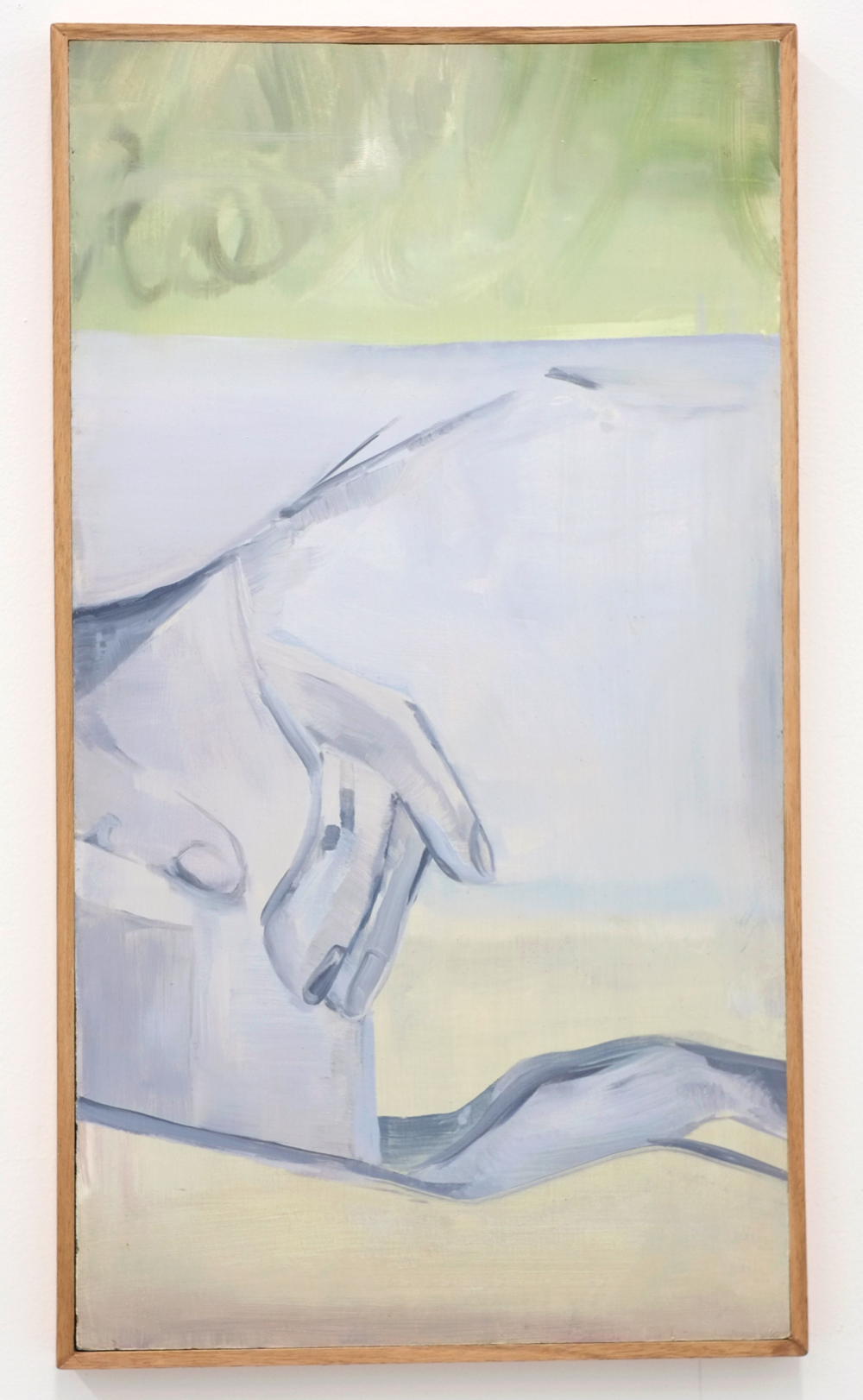 Grey Glass, oil on board, 2016