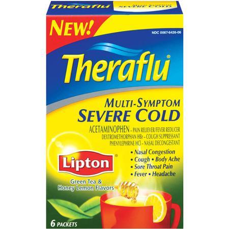 Theraflu Green Tea & Honey Lemon Multi-symptom Severe Cold