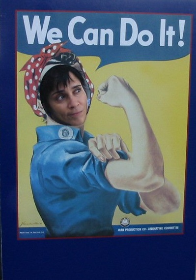 Couldn't find my photo with Rosie Perez - But this is me as Rosie The Riveter.