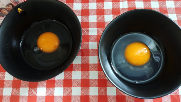 Are you able to tell the difference between a non-pasteurised egg and a pasteurised egg? Hint: Pasteurised eggs have slightly cloudy whites!