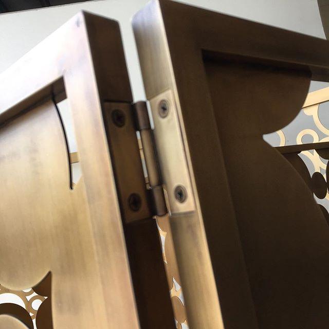 #detail #fabrication #brass #Aluminium #roomdivider