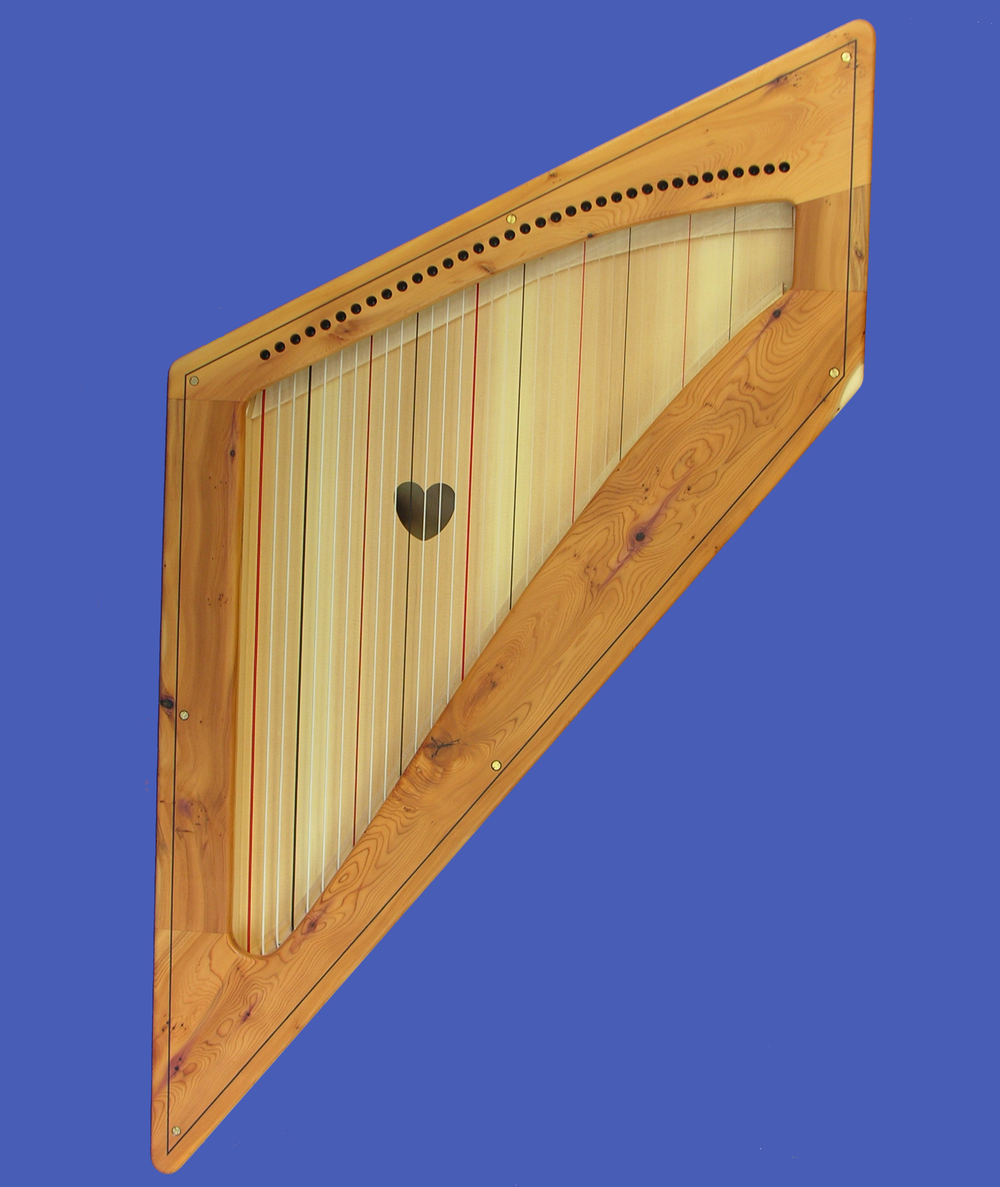 Niche Harp with Yew Wood Facing