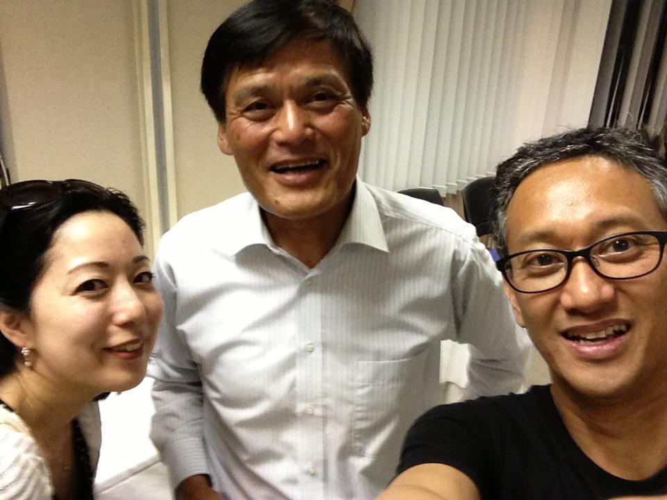 Hiroko Enseki (L), Munehisa Fujita (C), Paul del Rosario (R)
