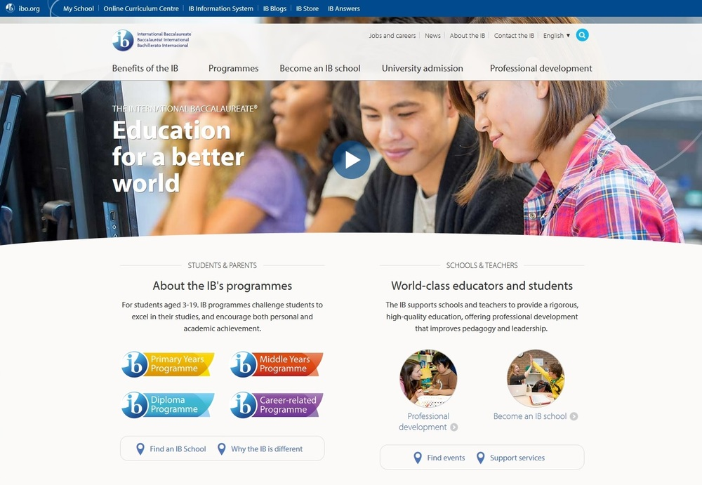 International Baccalaureate IB website thumbnail