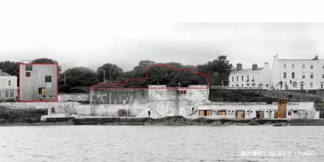 拆除部分与新建筑的海平立面关系