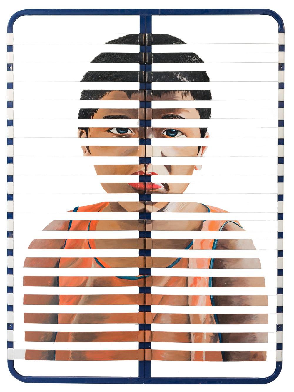 Fragments de Joie Vol.VI - Rafael Acrylique sur sommier, 160 x 200 cm.