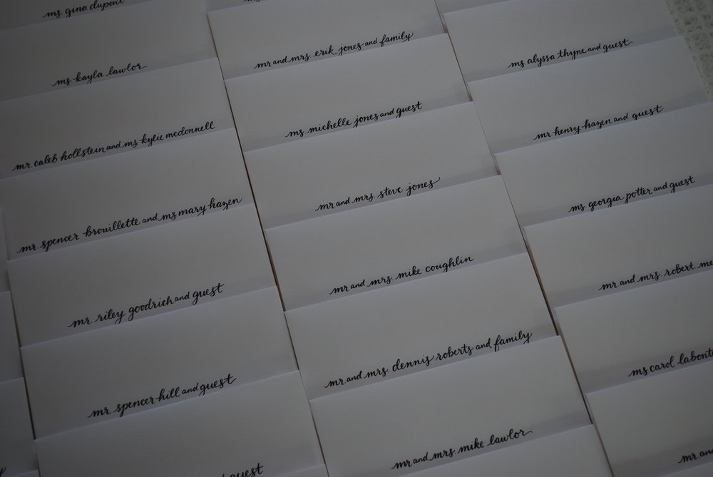 Classic black and white envelopes