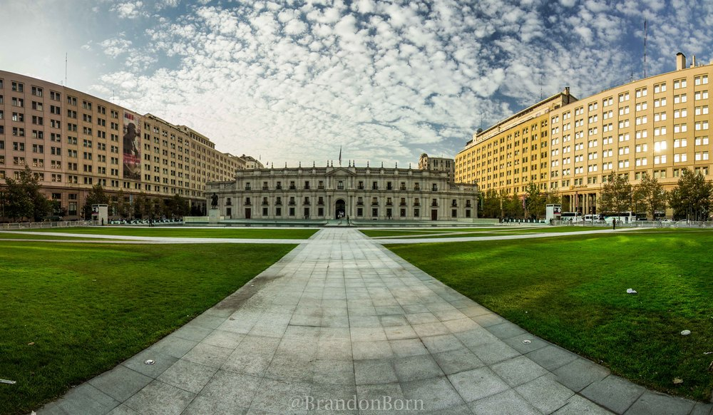Panorama of the Parliament building in Santiago.