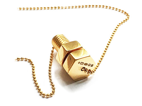 Lucy priest jewellery gold nut and bolt pendant gold nut and bolt pendant aloadofball Gallery