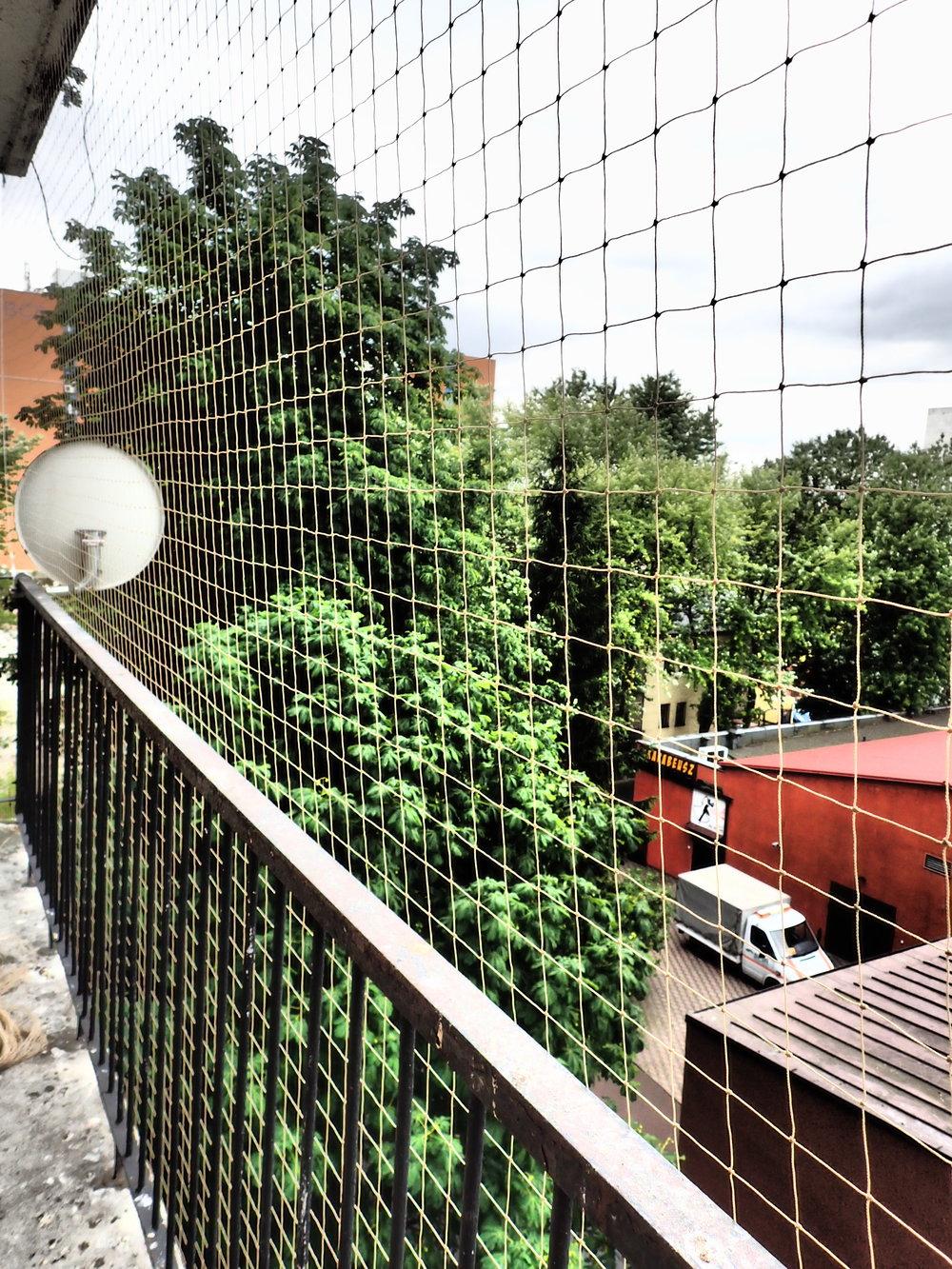 Zabezpieczenie balkonu przed ptakami Łódź