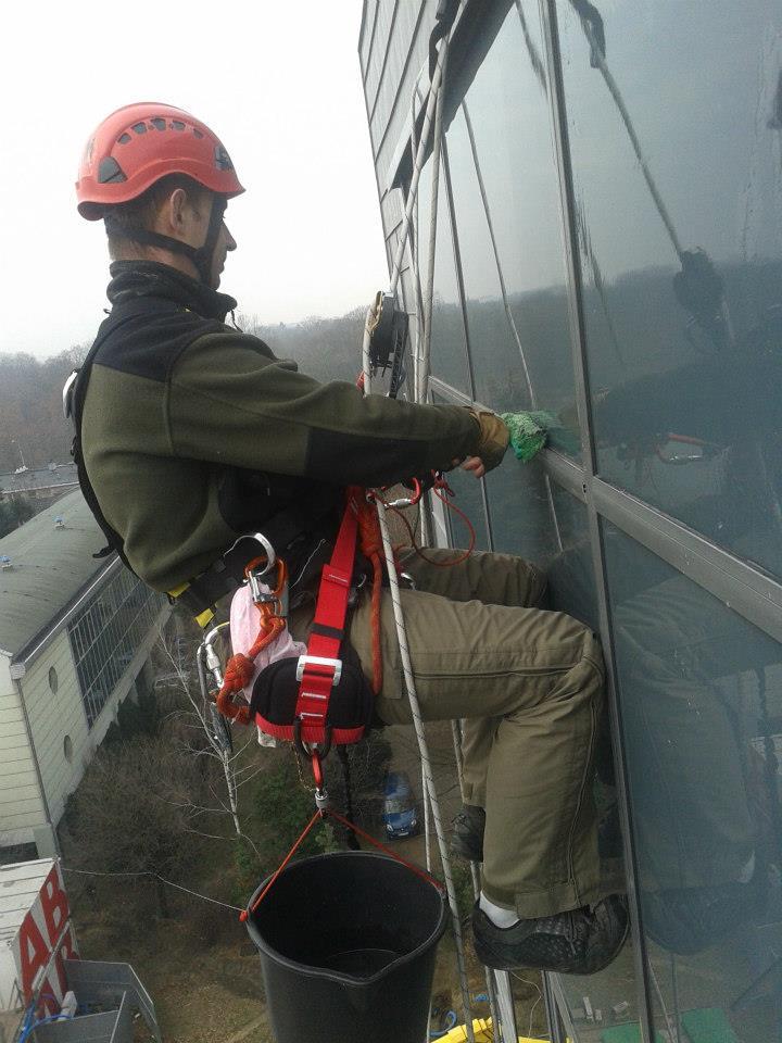 Mycie okien alpiniści Łódź