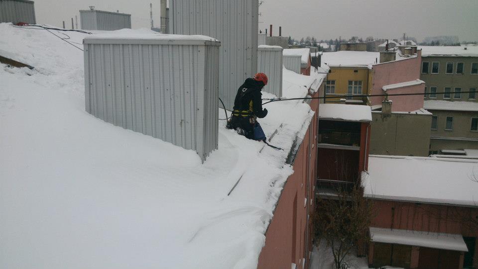 Odśnieżanie dachów Łódź