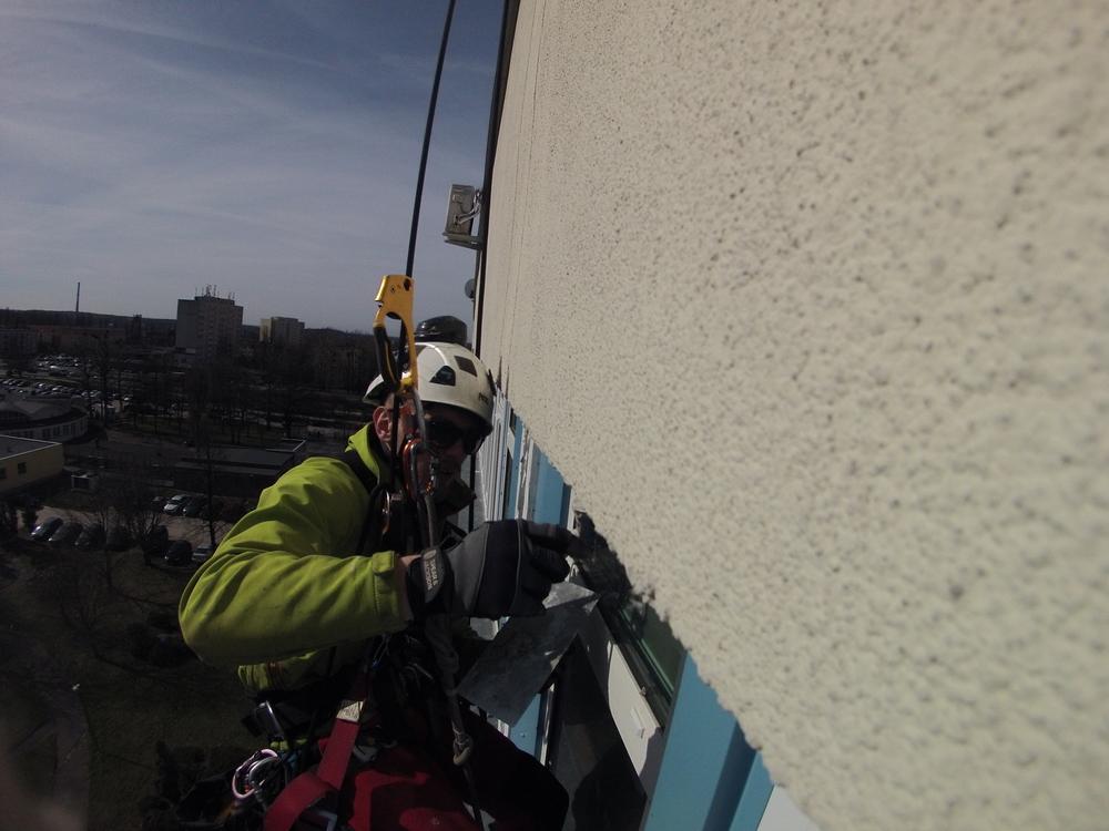 alpiniści Łódź naprawa elewacji