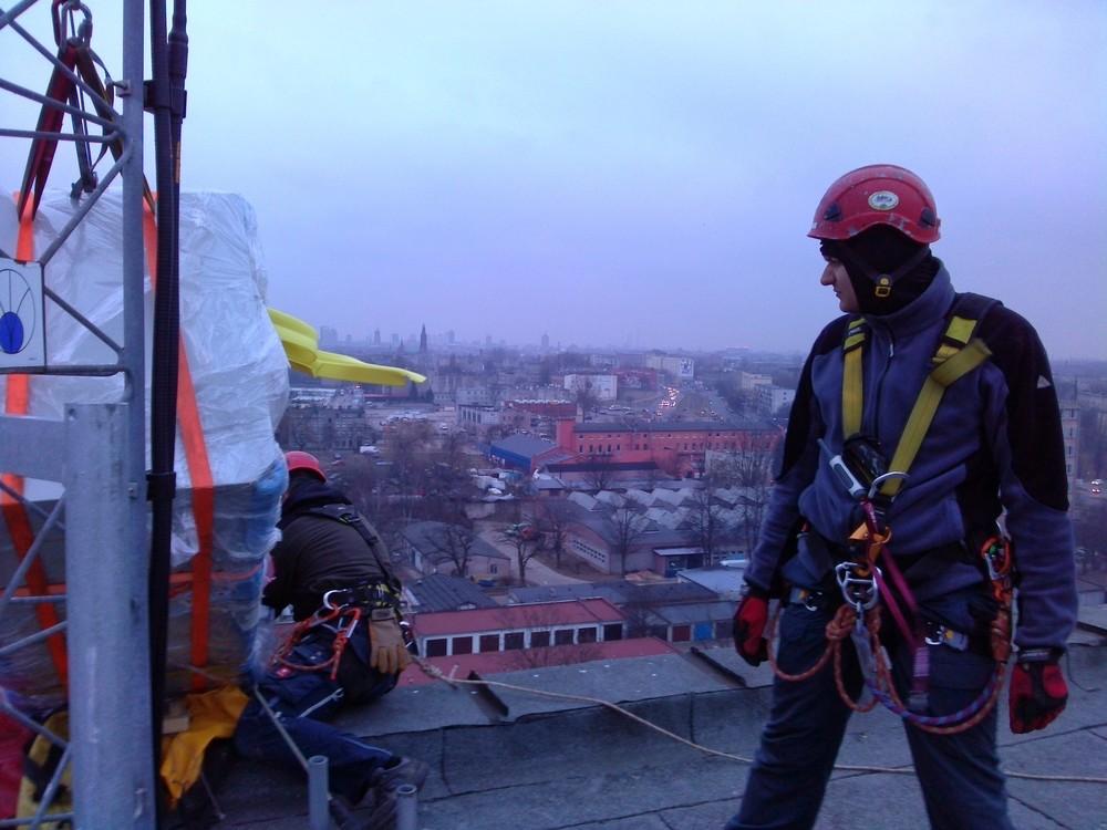 transport dostęp linowy alpiniści