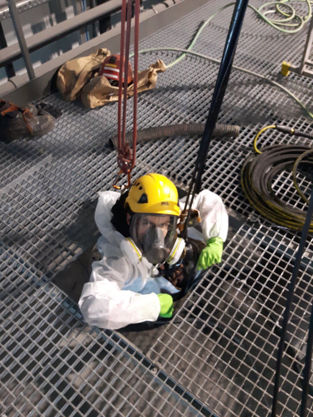silo cleaning rope access