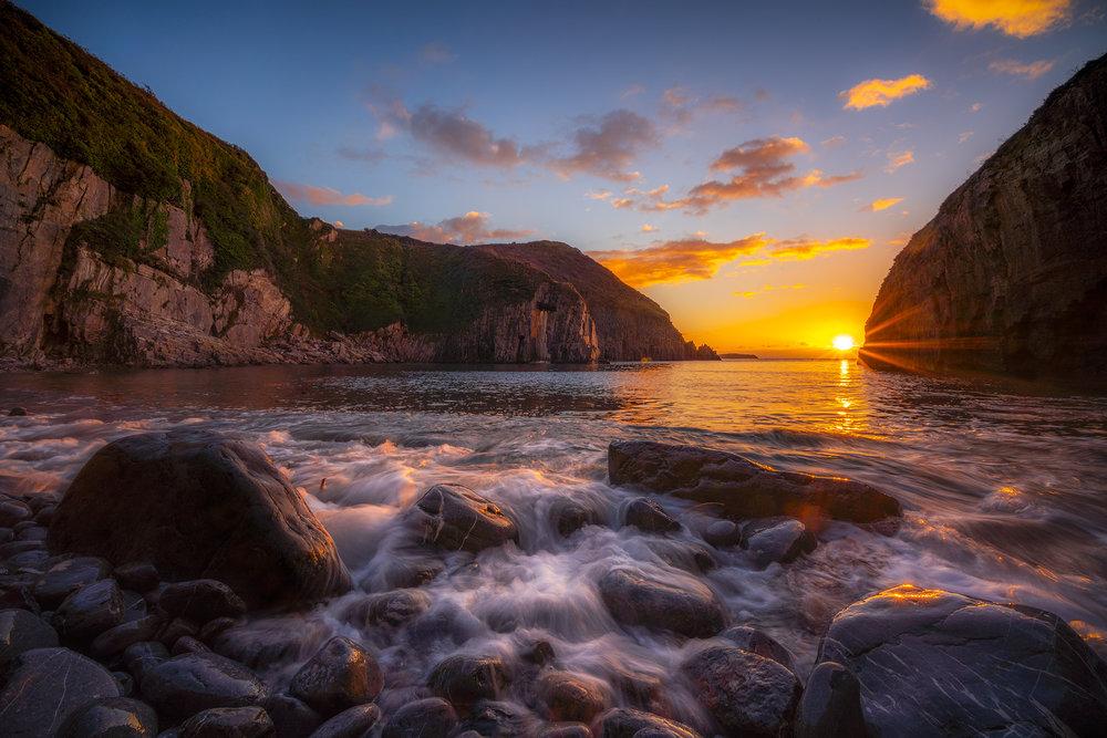 Sunrise at Church Doors Cove, Wales