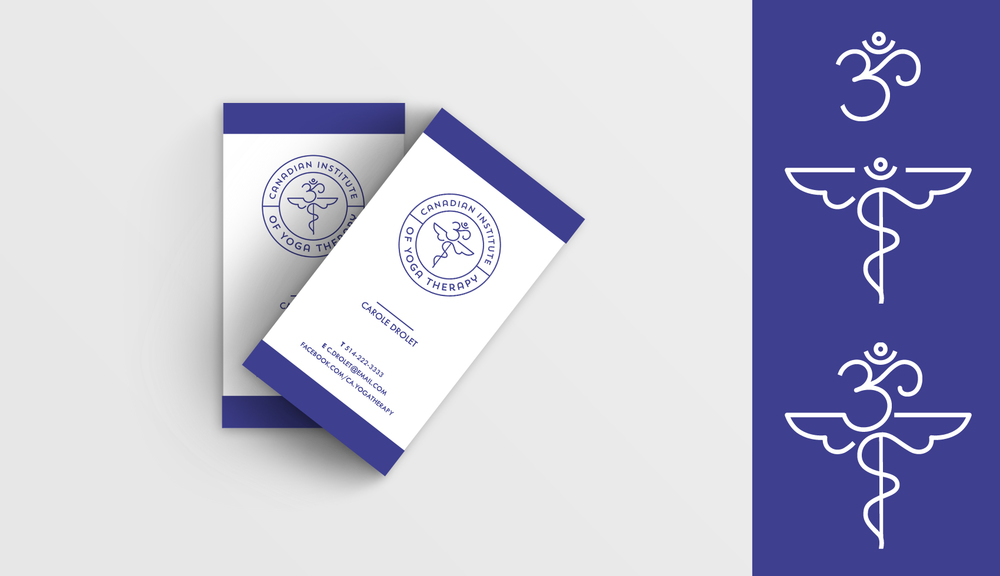 Canadian Institute of Yoga Therapy: Logo and business cards — Julia ...