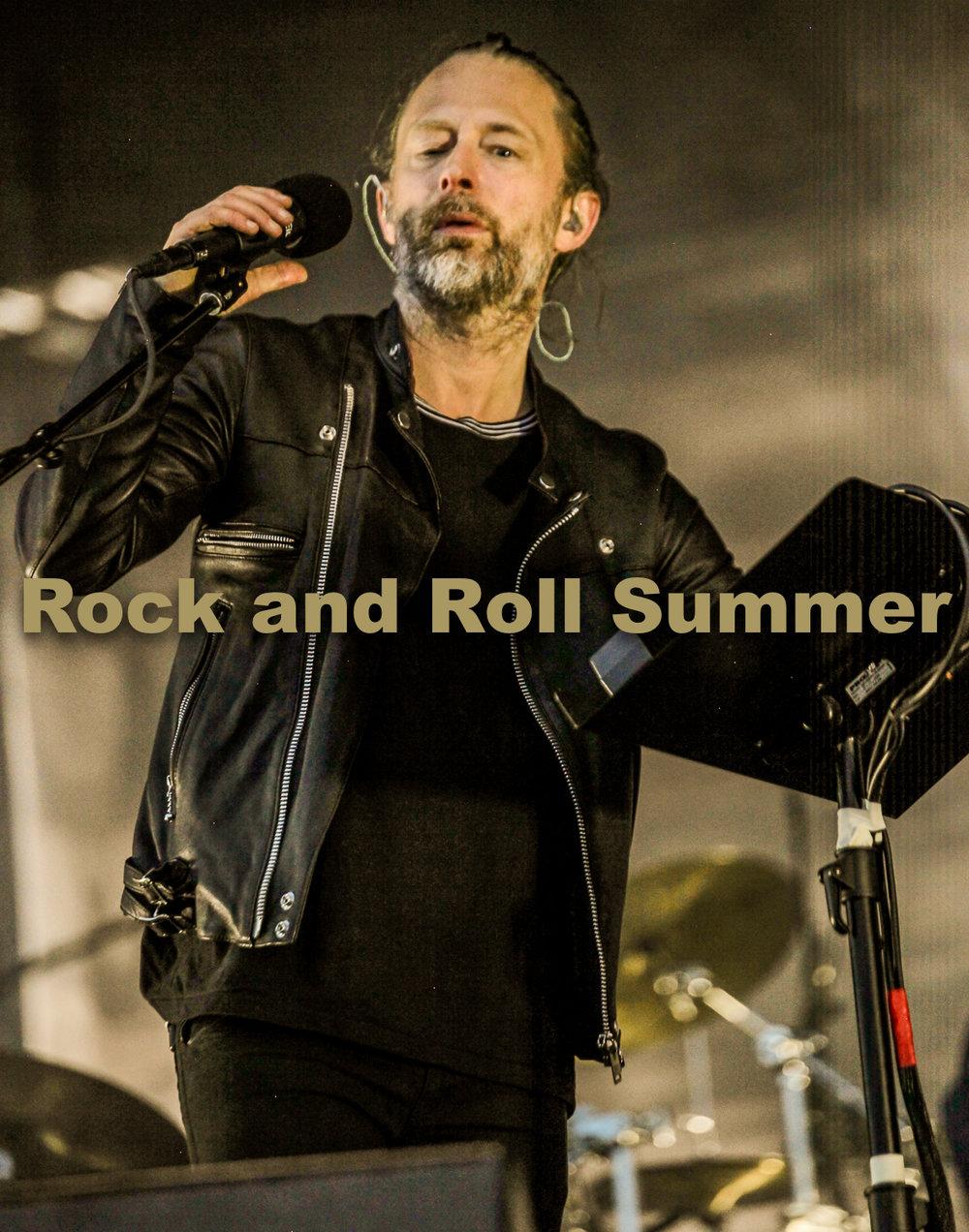 """Radiohead, Chicago, IL, 2016 - Curt Baran  11""""x14"""" $200.00 framed / $150.00 unframed"""