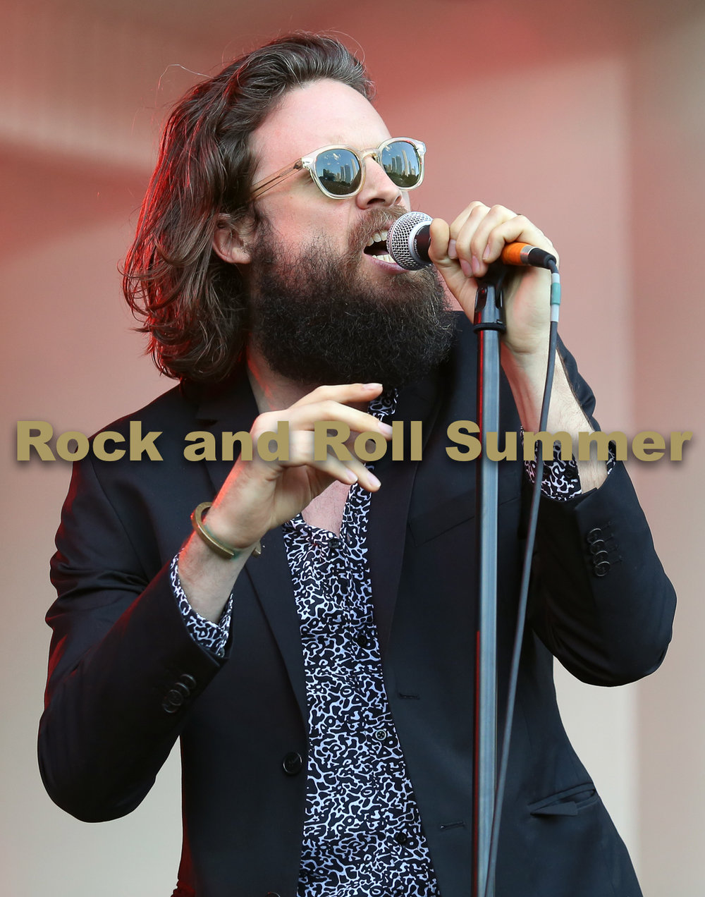 "Father John Misty , Chicago, IL, 2015 - Andy Argyrakis  11""x14"" $200.00 framed / $150.00 unframed"