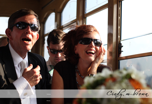 riding the trolley | wedding transportation
