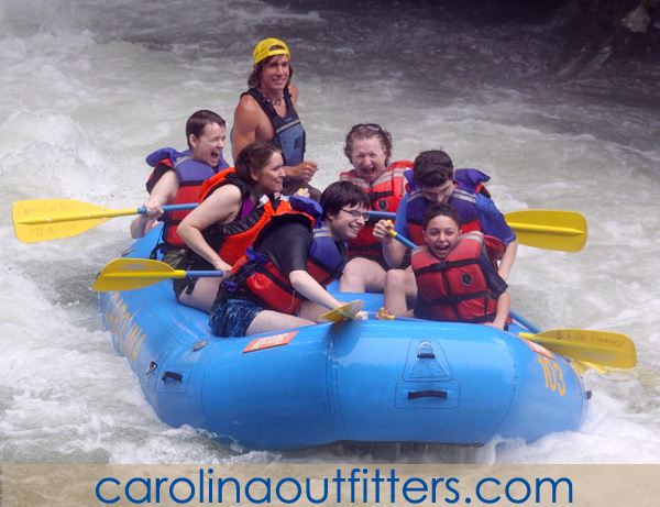 Rafting on the Nantahala with Carolina Outfitters