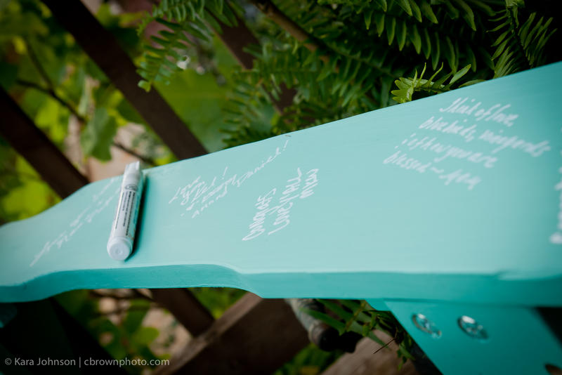 Adirondack Chair to be signed by wedding guests