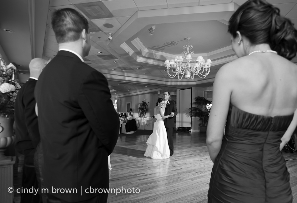 Dancing their first dance